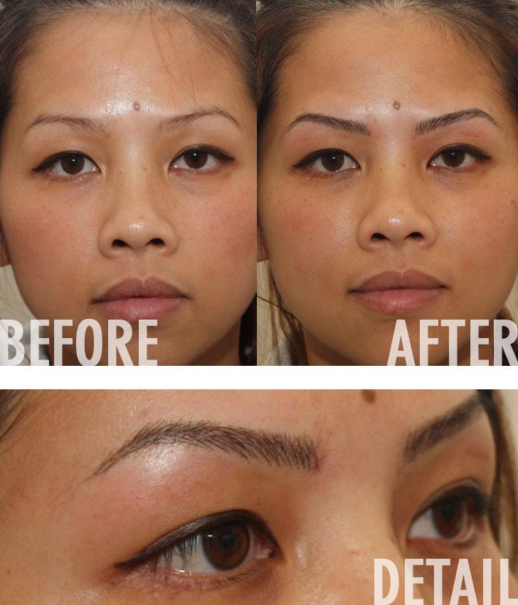 Beauty 3D Hollywood Eyebrow Tattoo Ideas