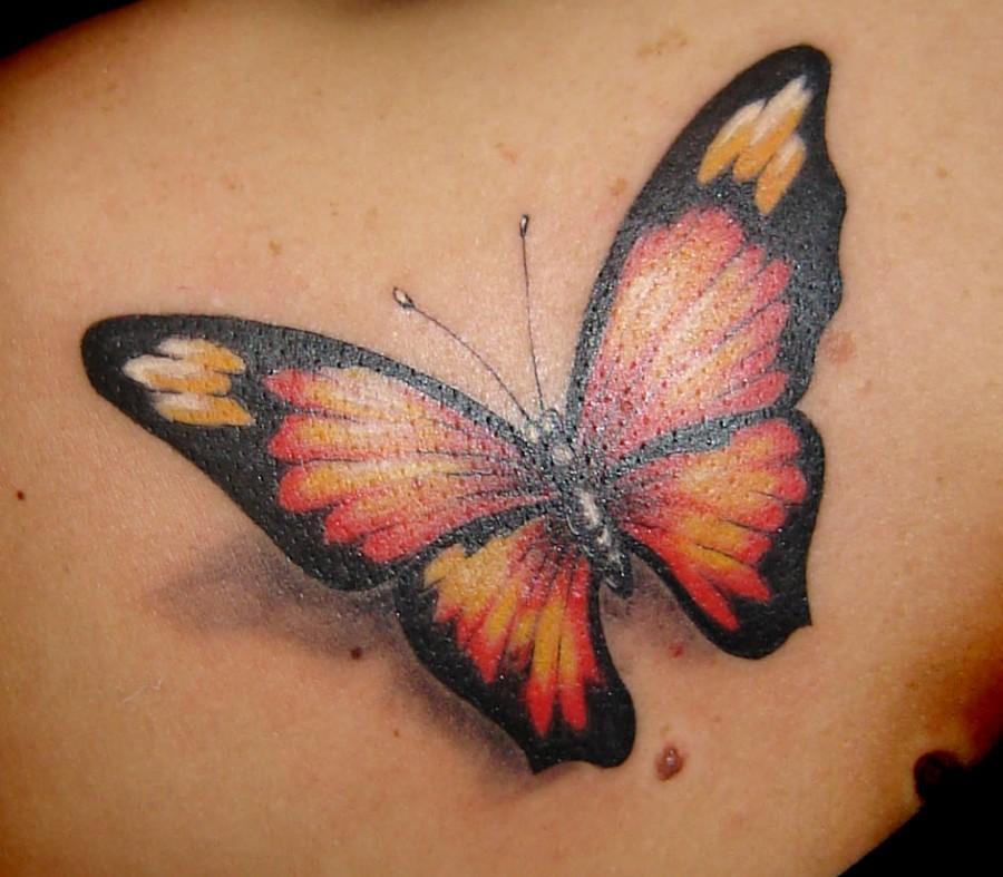 Beautiful 3d Butterfly Tattoo Design