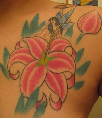 Colorful 3d Flower Tattoos