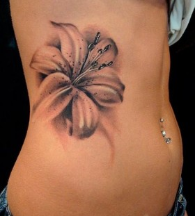 Realistic 3d Flower Tattoo On Front Body [NSFW]