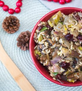 Rice and Cranberry Turkey Stuffing
