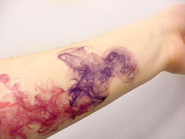 Abstract watercolor tattoo