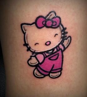 Adorable hello kitty tattoo