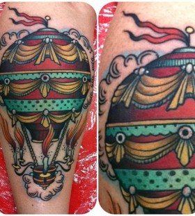 Air balloon tattoo by W. T. Norbert