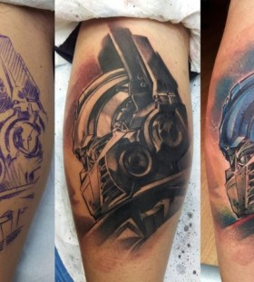 Amazing Optimus Prime tattoo
