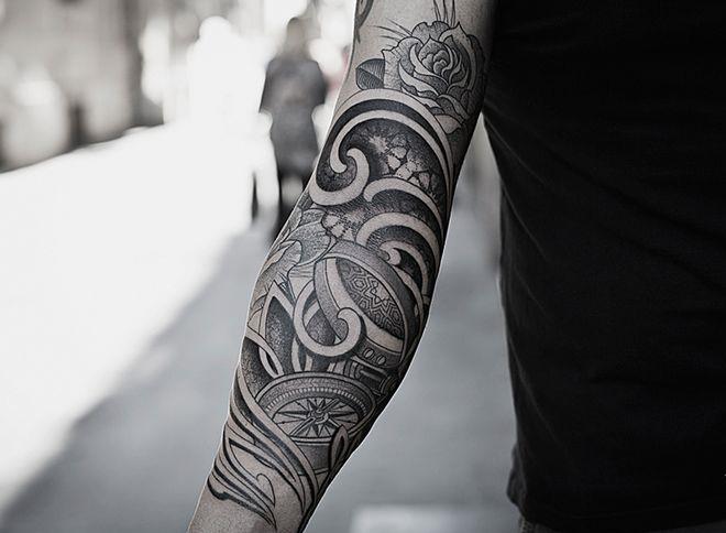 Amazing arm tattoo by Pepe Vicio