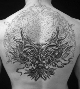 Amazing back tattoo by Brian Gomes