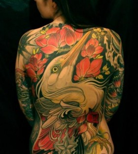 Amazing back tattoo by Lars Uwe Jensen