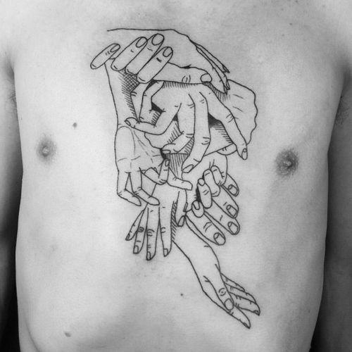 Amazing chest tattoo design