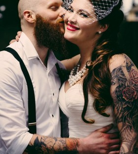 Amazing couple bride tattoo
