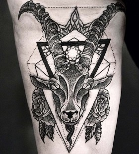 Amazing goat leg tattoo