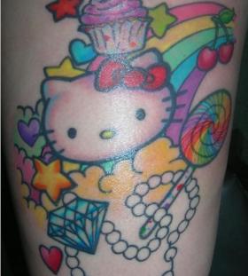 Amazing hello kitty tattoo