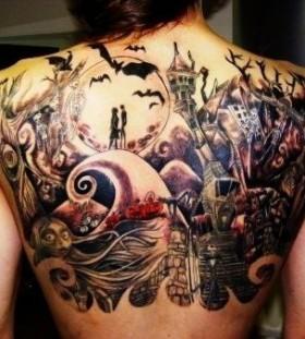 Amazing jack skellington tattoo