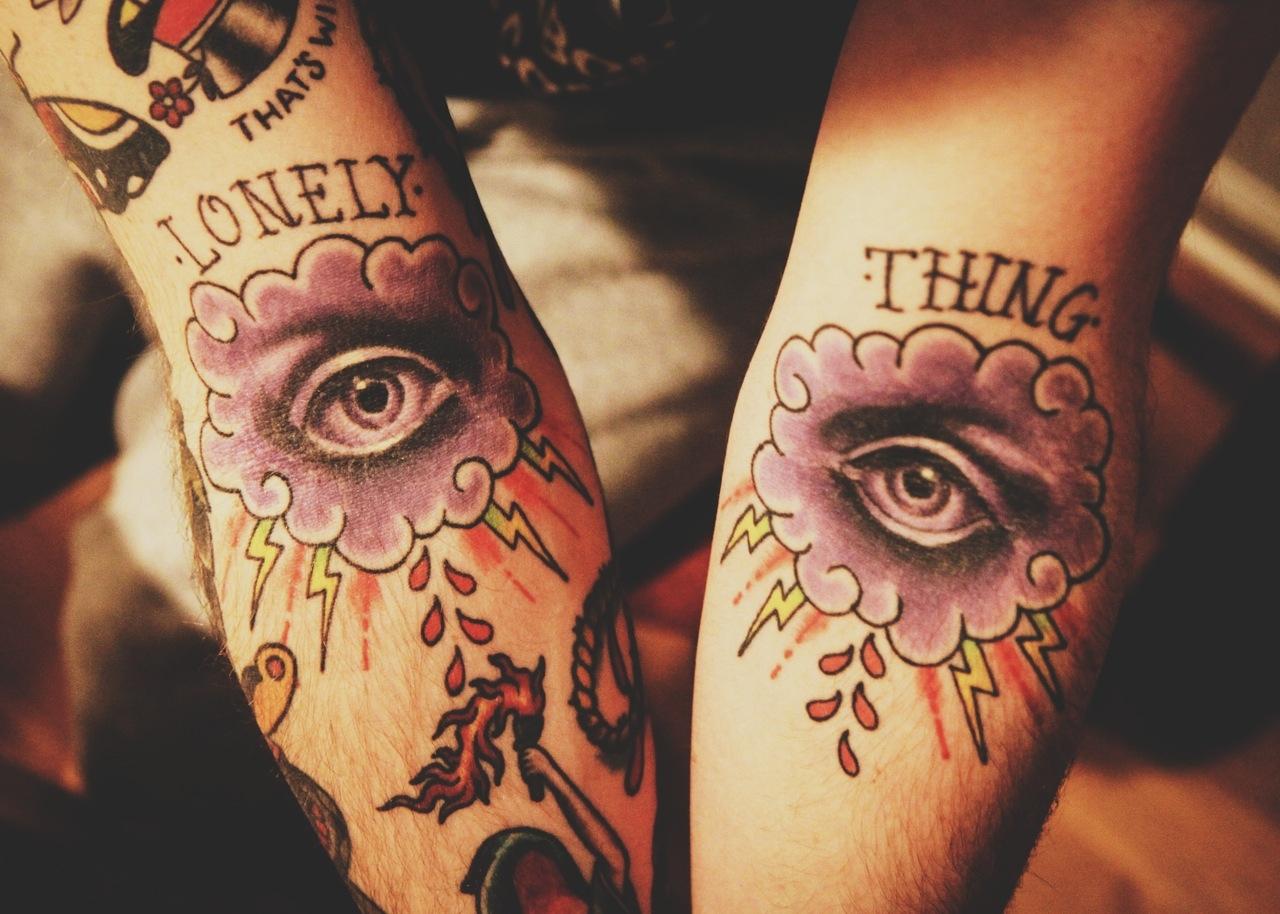 Lightning tattoos