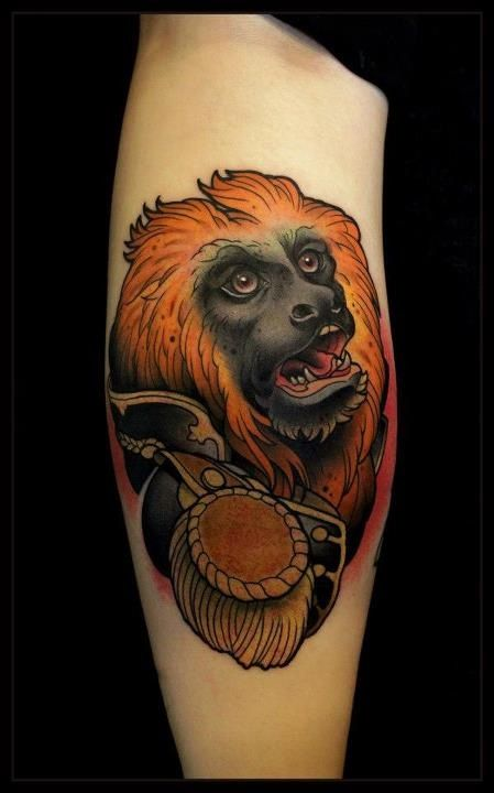 Amazing monkeys relative tattoo