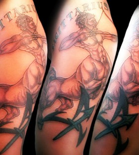 Amazing sagittarius arm tattoo