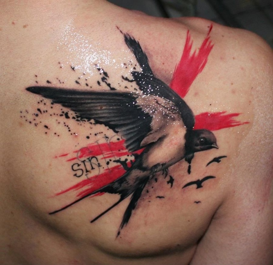 Amazing swallow tattoo design