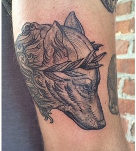 Amazing wolf tattoo by Rachel Hauer