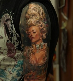 Amazing woman tattoo by Dmitriy Samohin