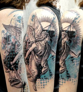 Angel arm tattoo by xoil