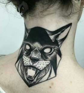 Angry animal tattoo by Michele Zingales