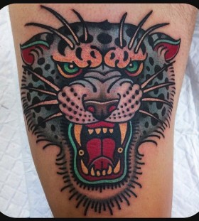 Angry animal tattoo by W. T. Norbert