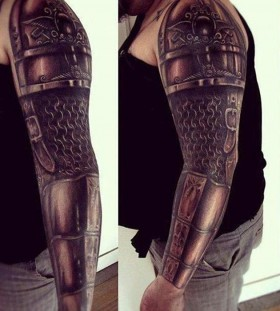 Armour full arm tattoo