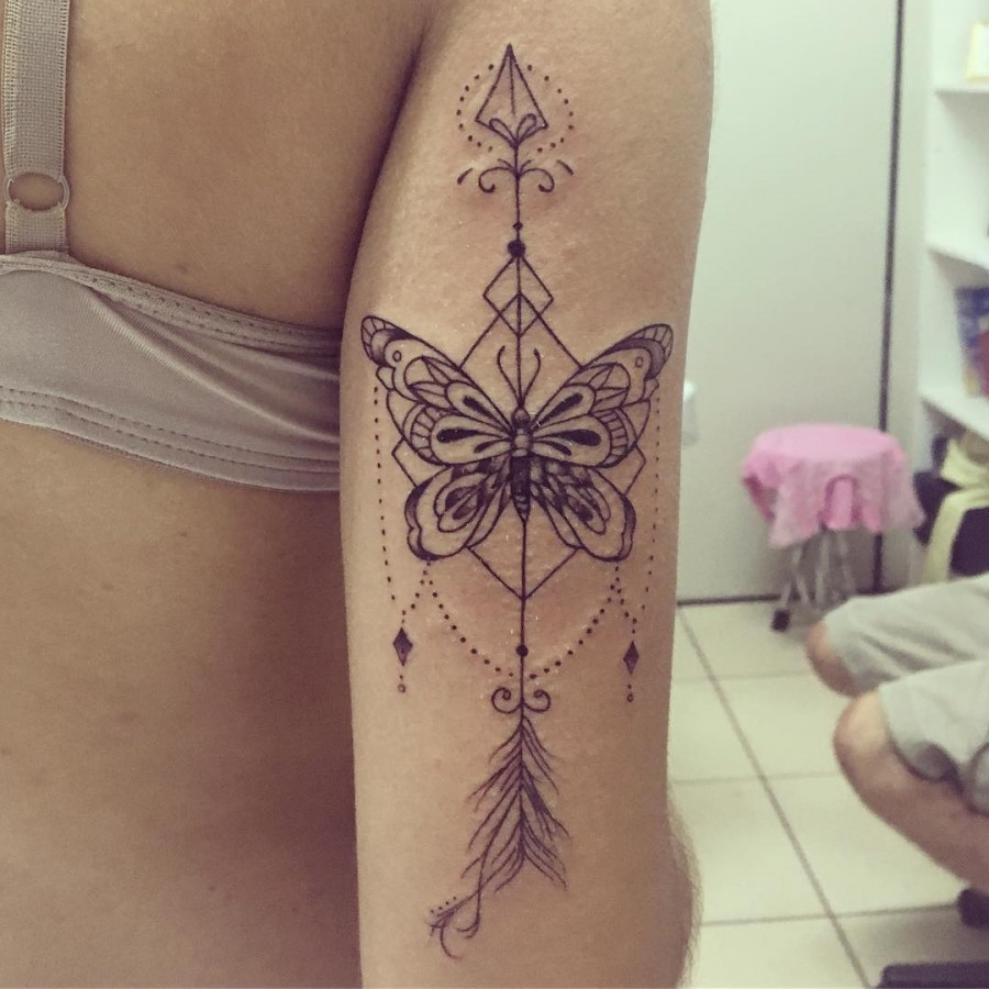 arrow-butterfly-tattoo-by-gabi.ink