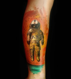 astronaut-watercolor-tattoo