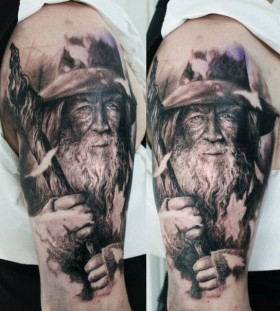 Awesome Gendalf arm tattoo