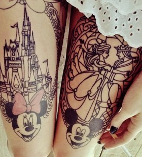 Awesome Minnie and Mickey tattoos