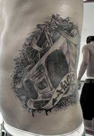 Awesome boombox side tattoo