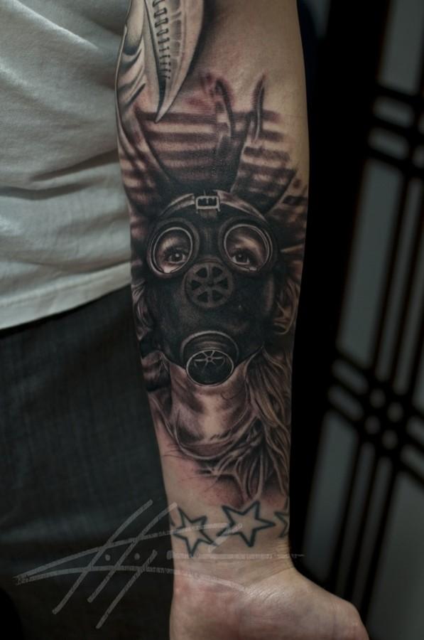 7538ef3f18c16 Awesome gas mask tattoo - | TattooMagz › Tattoo Designs / Ink Works ...