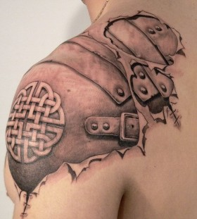 Awesome gladiator armour tattoo