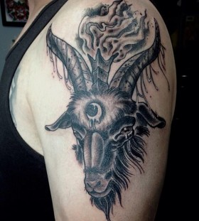 Awesome goat arm tattoo