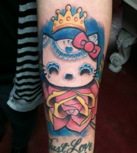 Awesome hello kitty tattoo