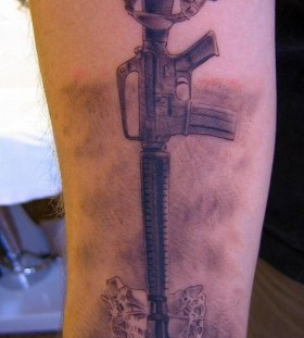 Awesome military tattoo by Xavier Garcia Boix