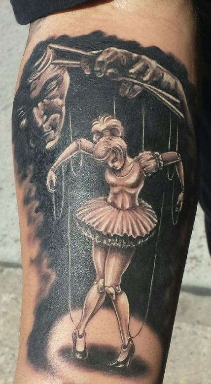 Awesome puppet master tattoo
