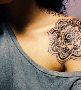 Awesome shoulder mandala tattoo