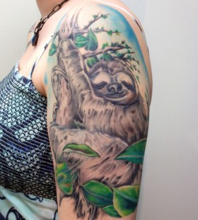 Awesome sloth arm tattoo