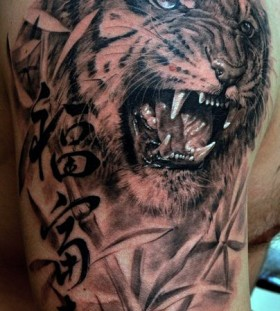Awesome tiger tattoo by Dmitriy Samohin