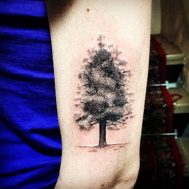 Awesome tree tattoo by Rebecca Vincent