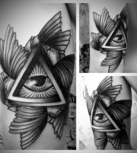 Awesome triangle eye tattoo
