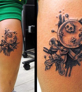 Awesome voodoo doll tattoo