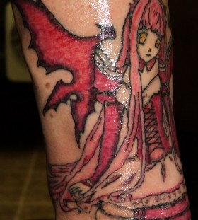Awesome wings anime tattoo