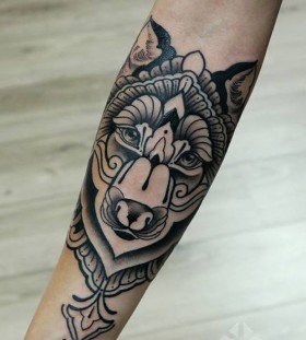 Awesome wolf tattoo by Brian Gomes