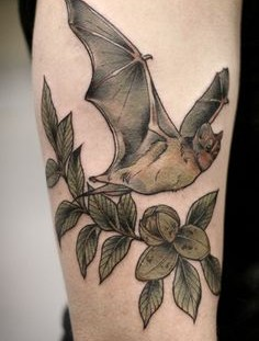 Bat tattoo by Kirsten Holliday