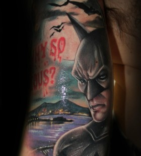 Batman tattoo by Riccardo Cassese