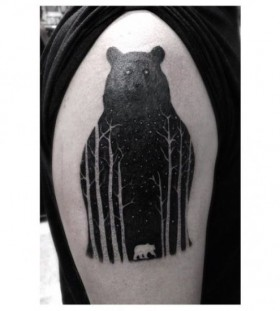 Beautiful bear tattoo by Dr Woo