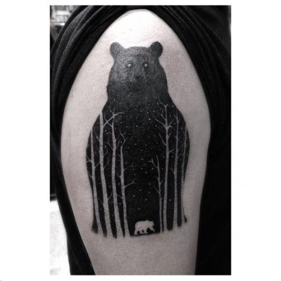 Beautiful bear tattoo by Dr Woo